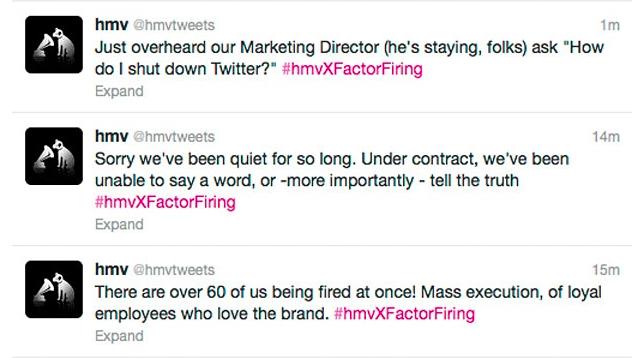 HMV Twitter takeover