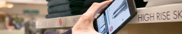NFC tags on shelves