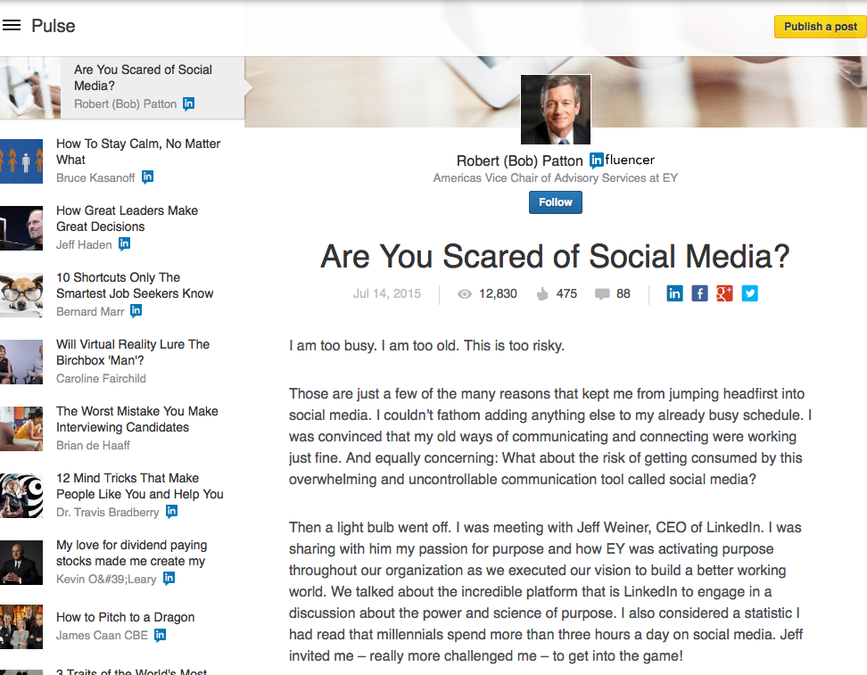 LinkedIn blog content