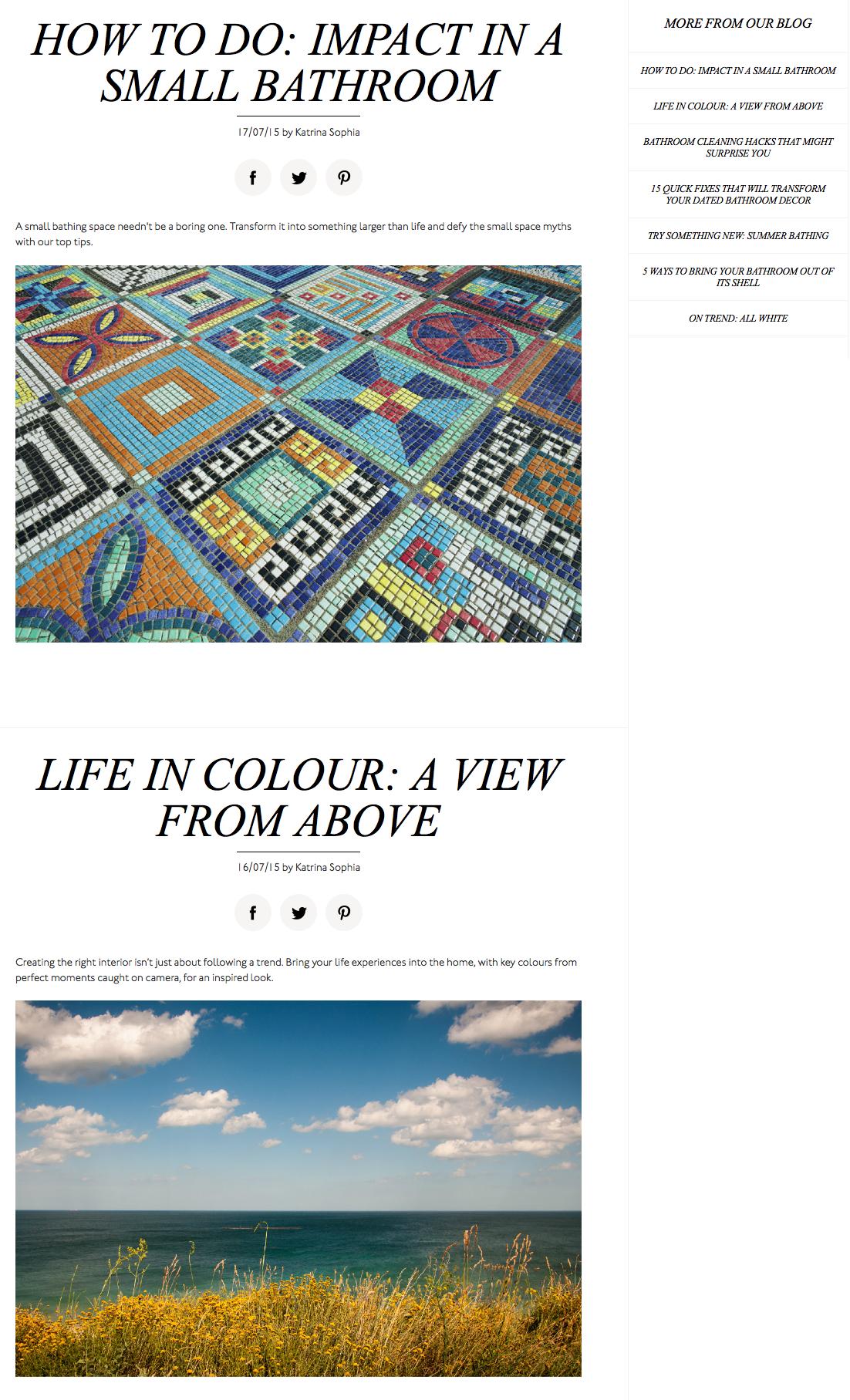 Matalan Direct blog page