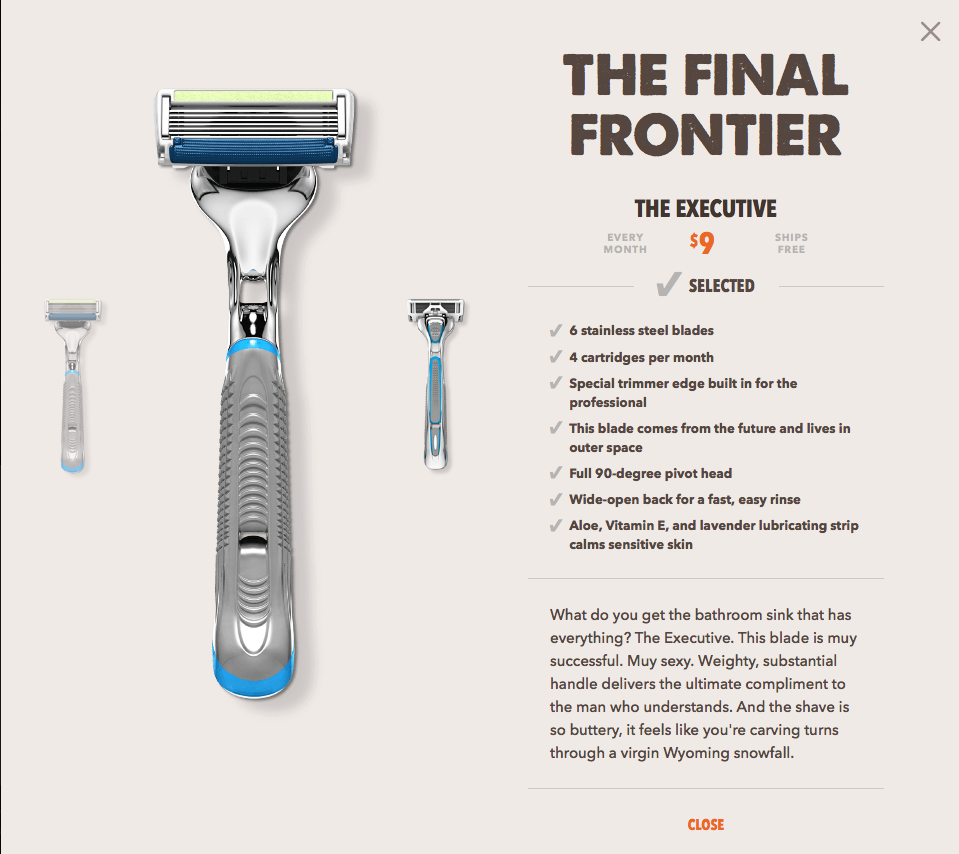 Dollar Shave Club UX