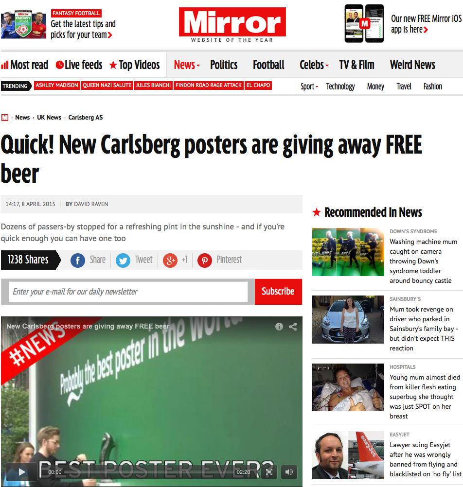 Carlsberg poster