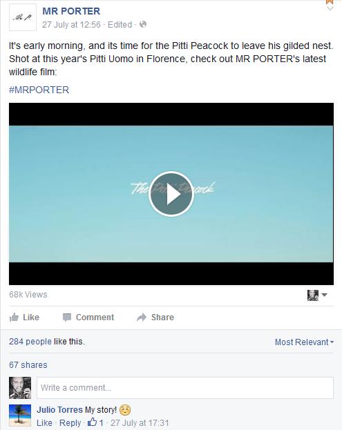 Mr Porter Facebook