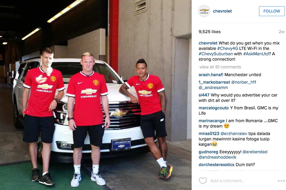 Chevrolet Instagram