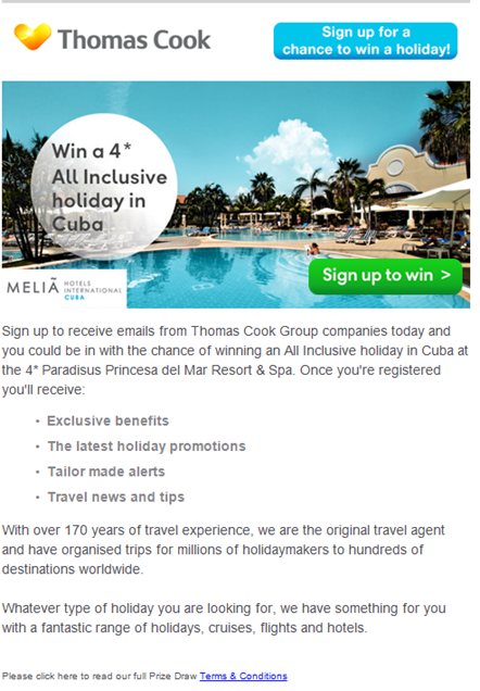 customer preference for thomas cook Thomas cook group plc (otc:  and dubai, have increasing popularity in preference to cuba and dominican  our relentless focus on customer and nps.