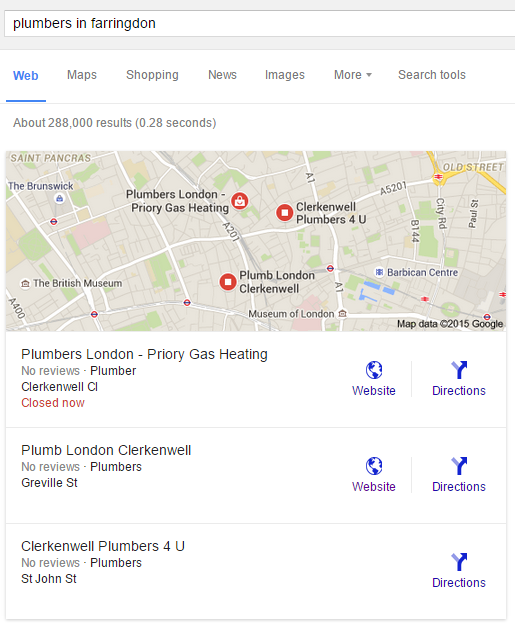 plumbers in farringdon