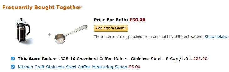 Amazon cross-selling