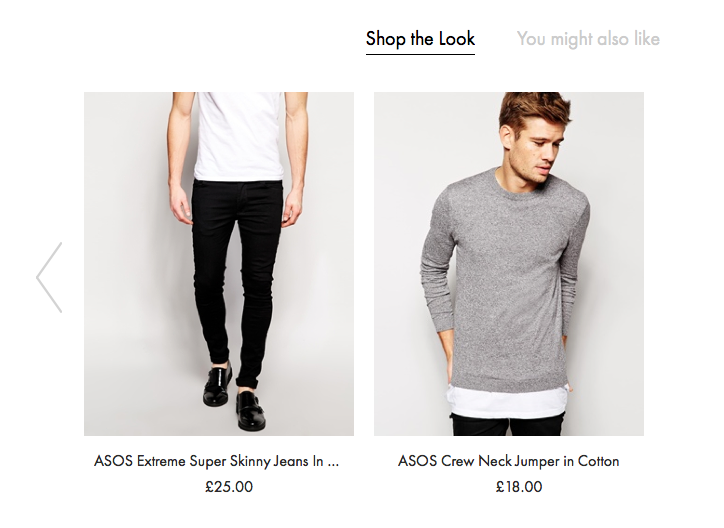 Asos cross-selling