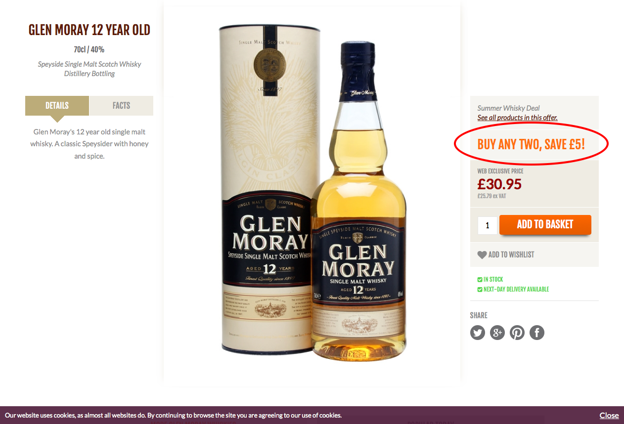 Whisky Exchange cross-selling
