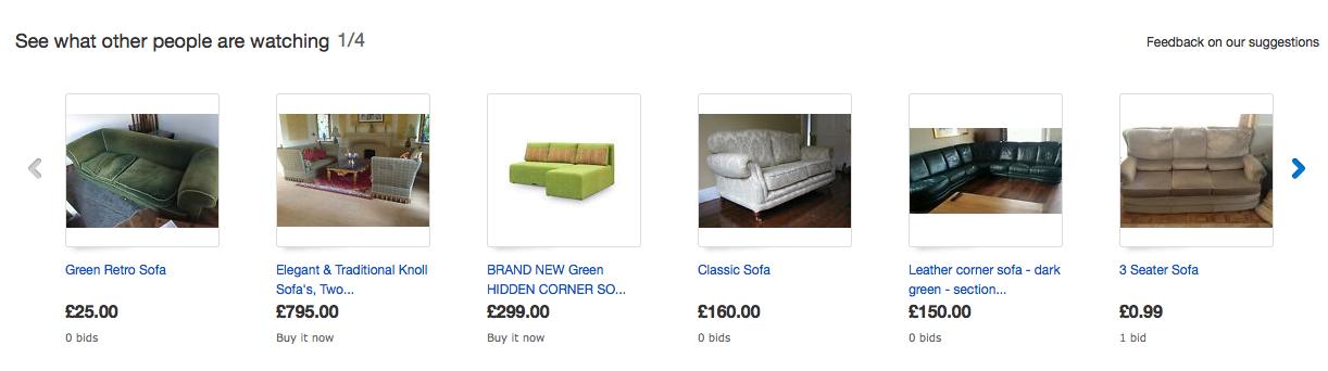 EBay social proof