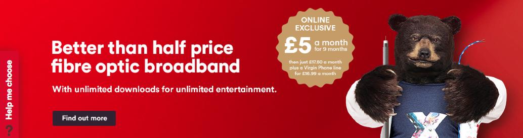 Virgin Media upselling online