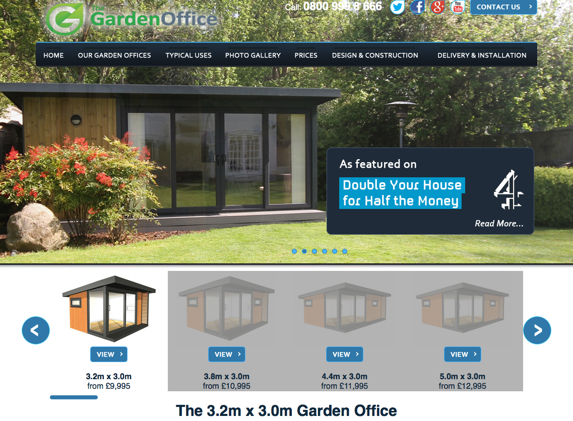 TheGardenOffice upselling online