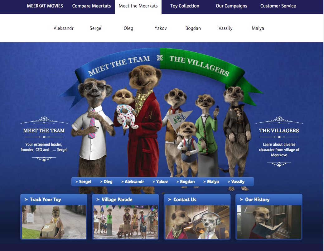 Compare the meerkat