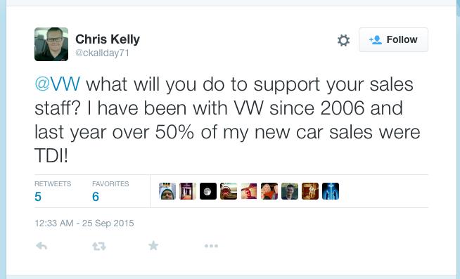 Tweet to VW