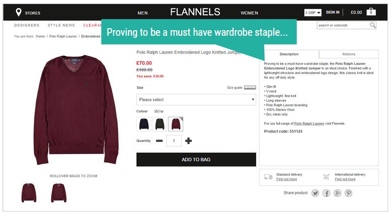 flannels webpage