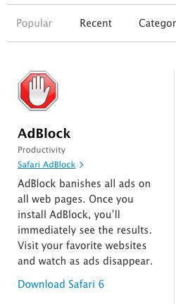 Ad blocking software