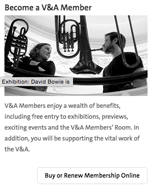 become v&a member