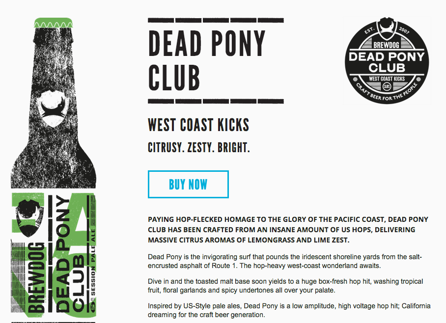 dead pony club ale