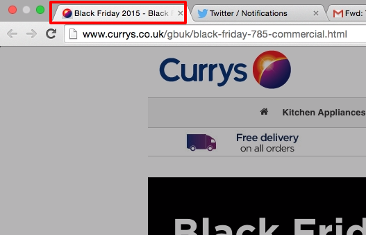 currys title tag - black friday page