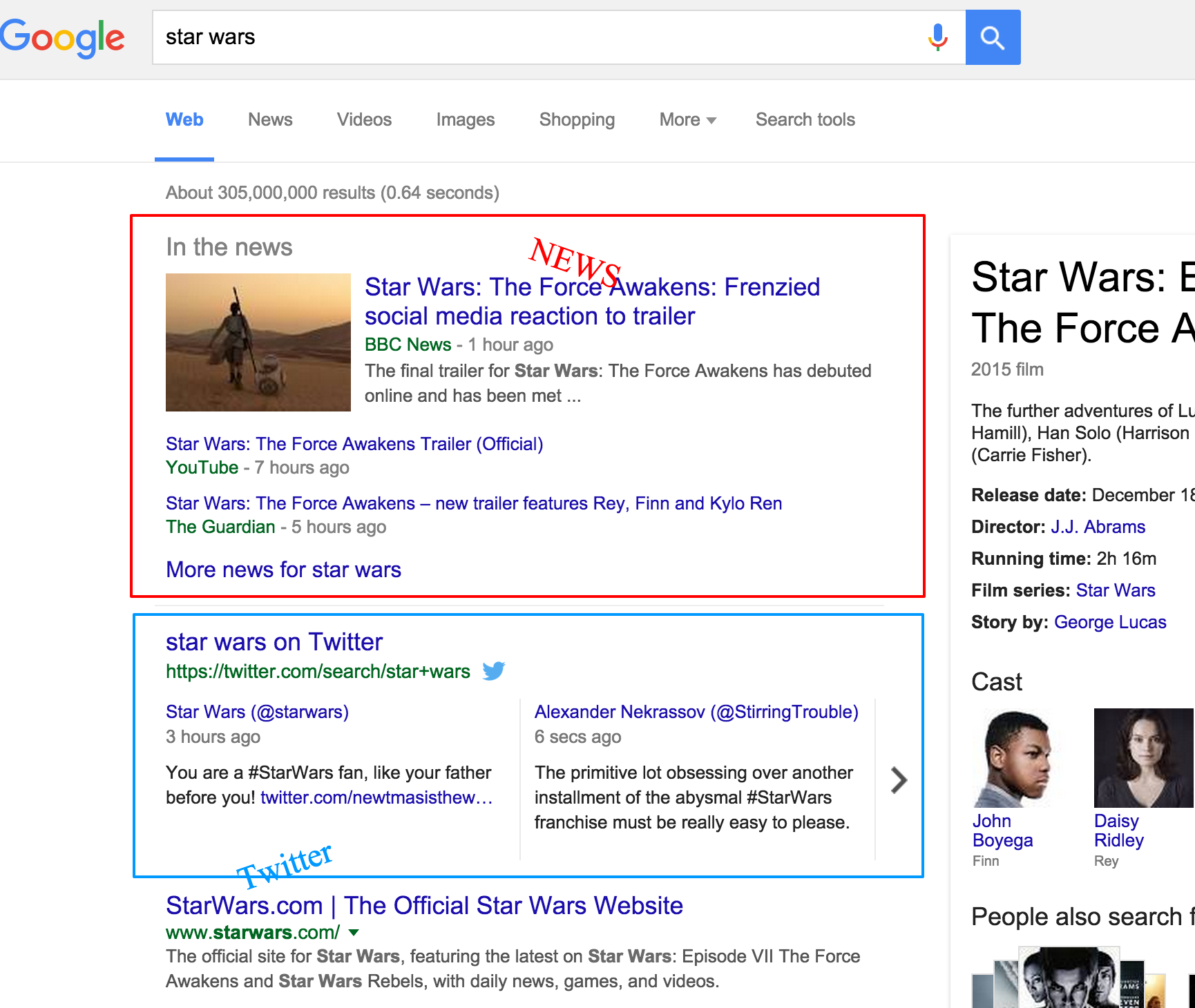 star wars google search