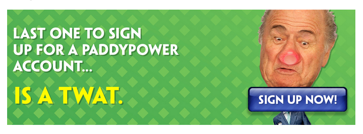 Paddy power banner add