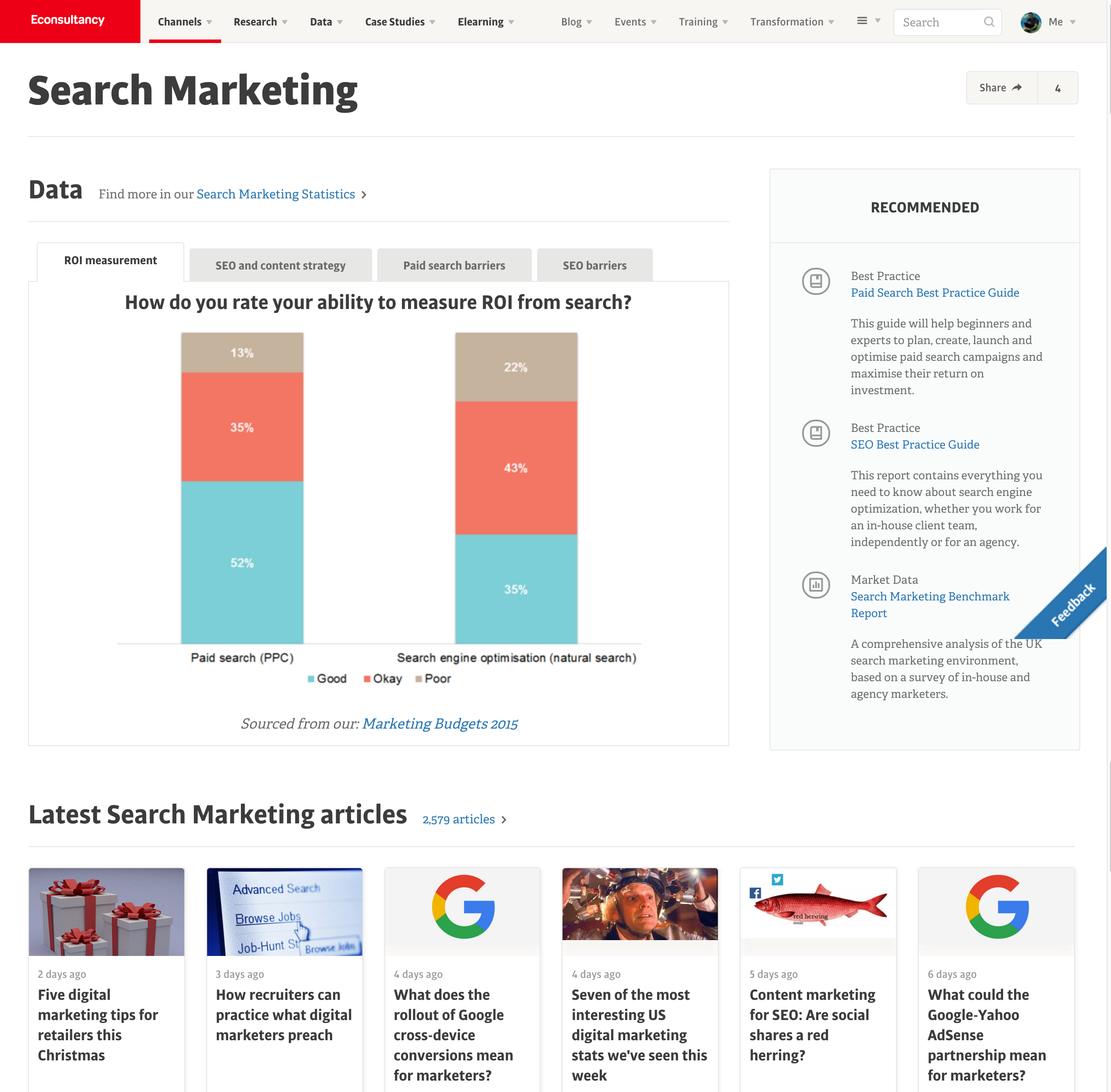 search marketing topic page