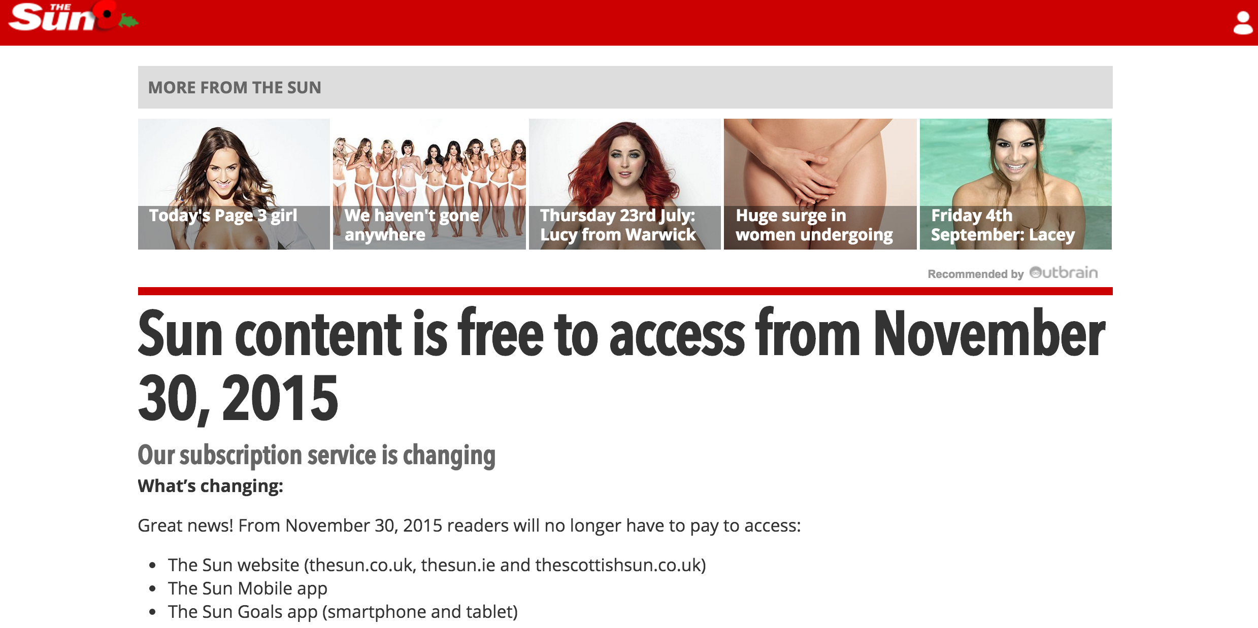 the sun paywall announcement