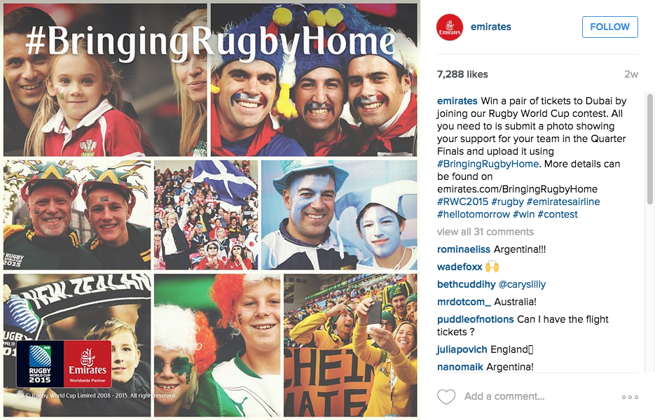 Emirates wurgby world cup competition instagram