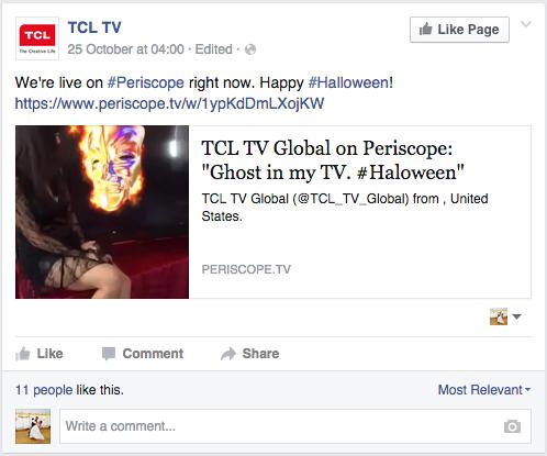 TCL periscope campaign