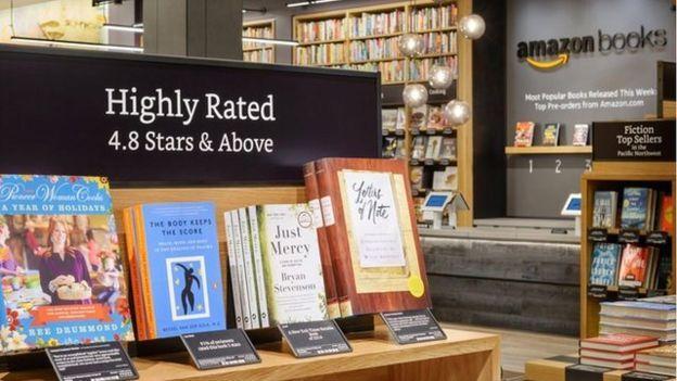 Amazon books online user ratings on shelf