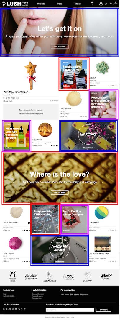 lush homepage