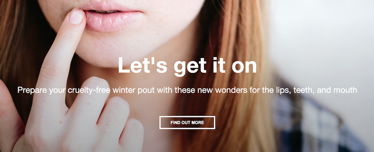 lush homepage feature