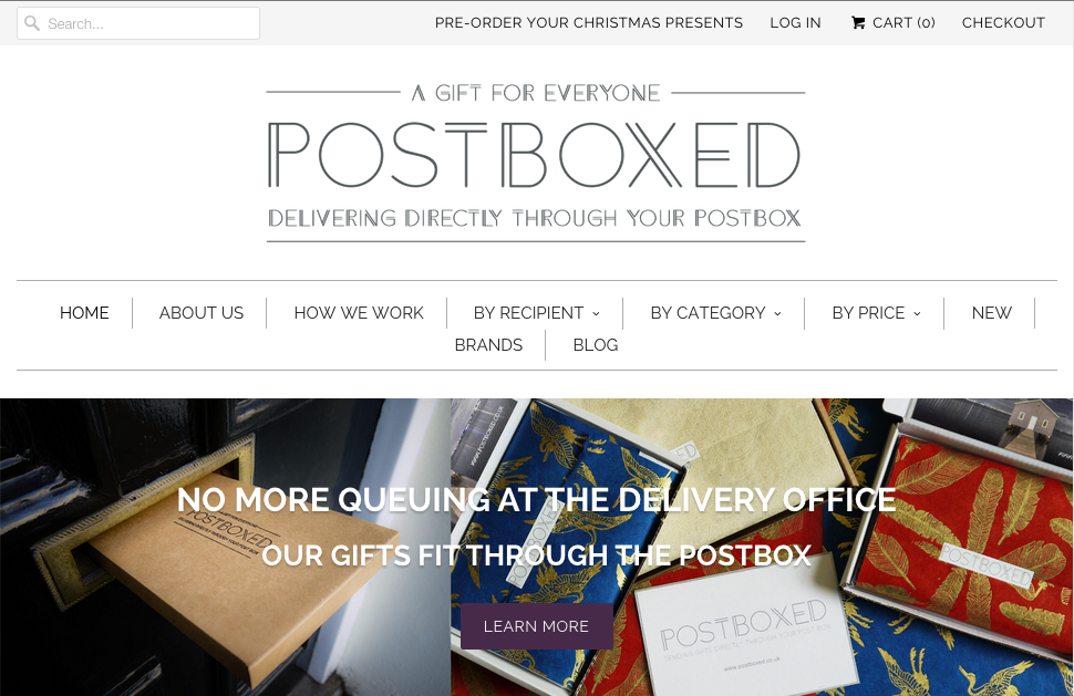 Postboxed home page