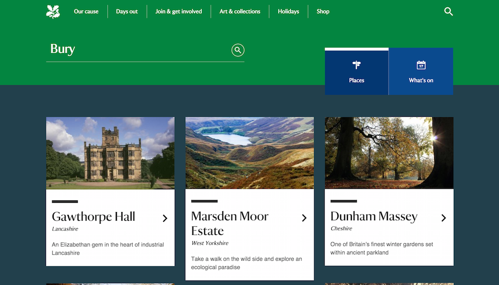national trust search results