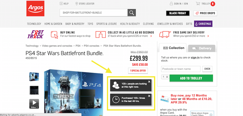 argos product page