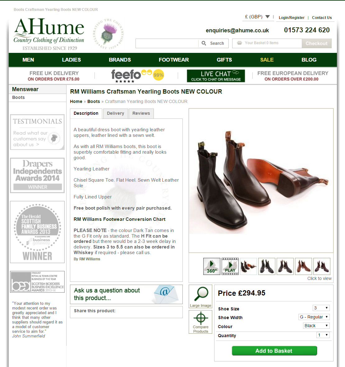A/b testing on a hume product page
