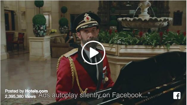 hotels.com silent facebook video ad campaign