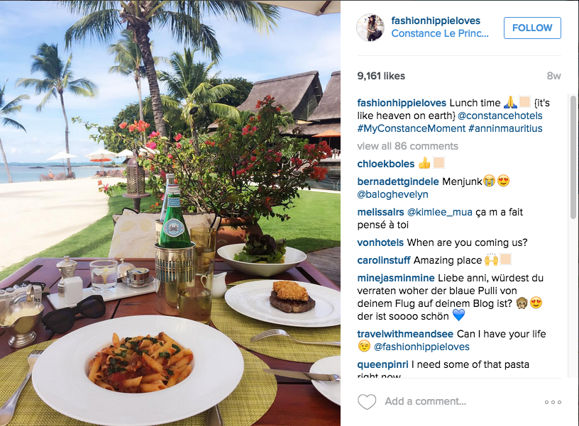Constance hotels instagram campaign
