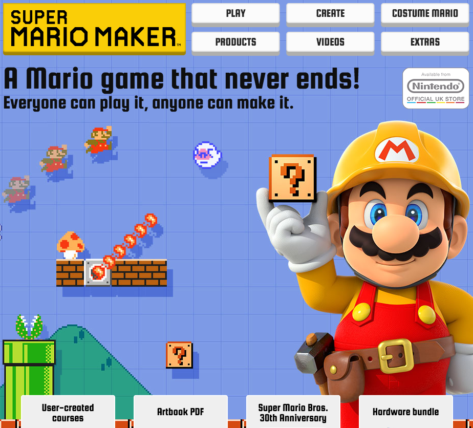 Nintendo super mario maker user generated content