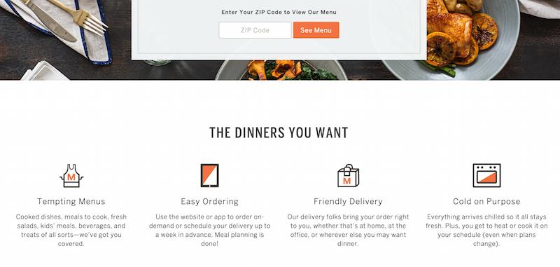 munchery's homepage