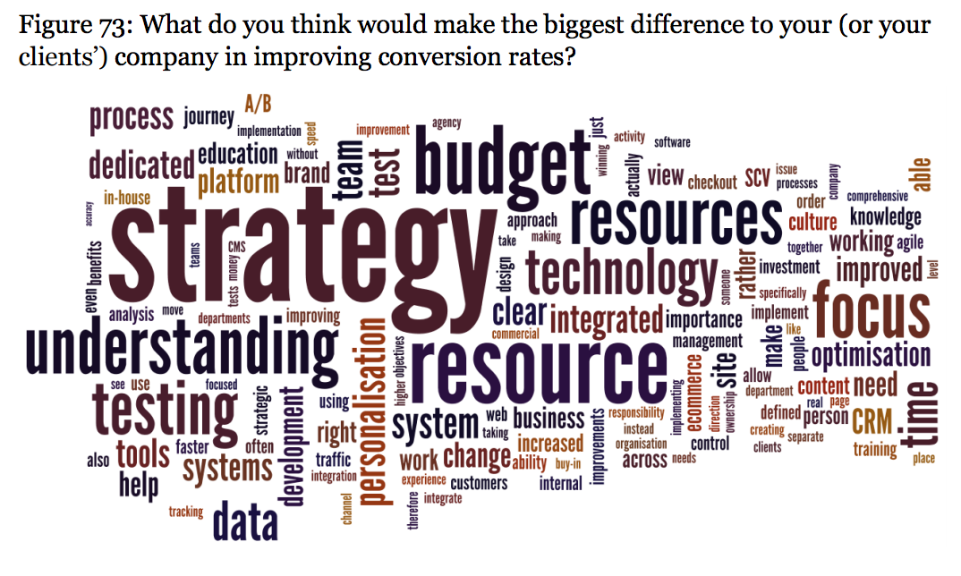 wordcloud - biggest challenges to CRO