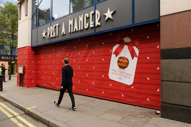 Pret A MAnger experiential marketing gift-wrapped store london