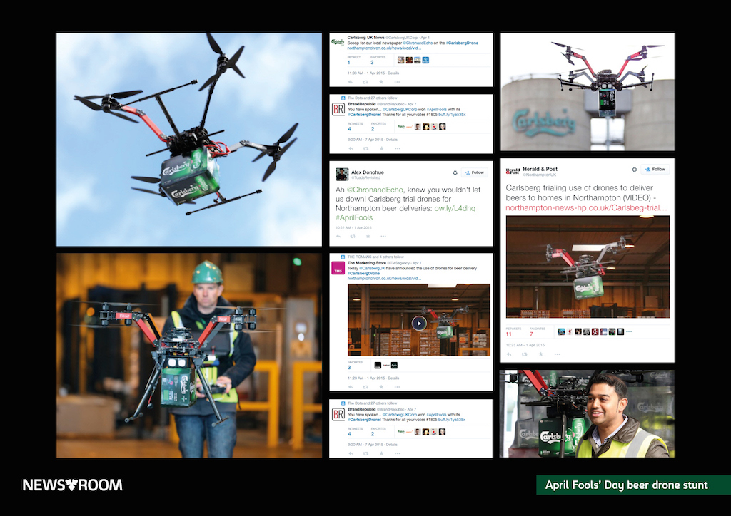 carlsberg drone april fool