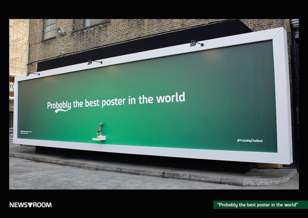 carlsberg poster that serves beer