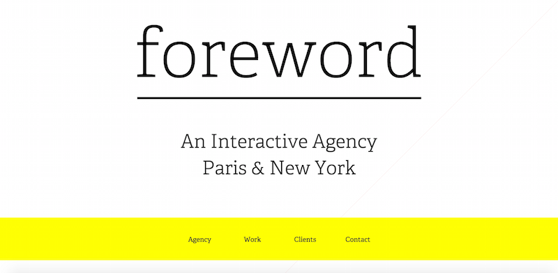 foreword agency