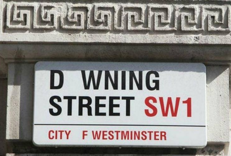 downing street sign missing type NHS