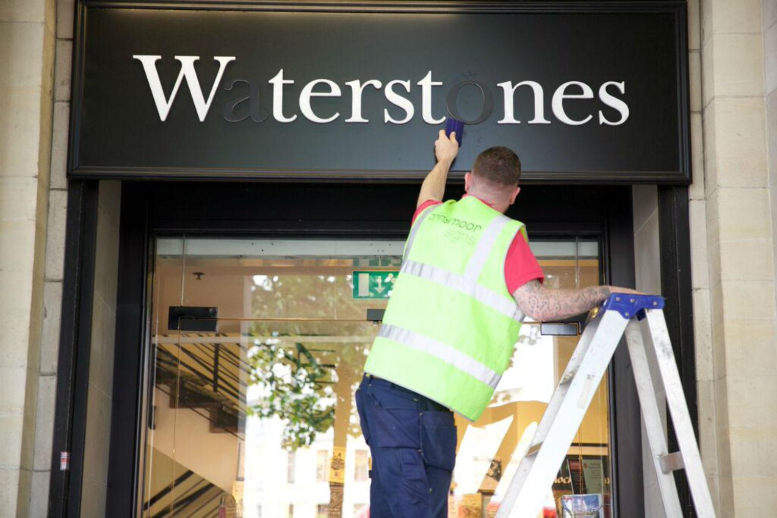 waterstones sign missing type NHS