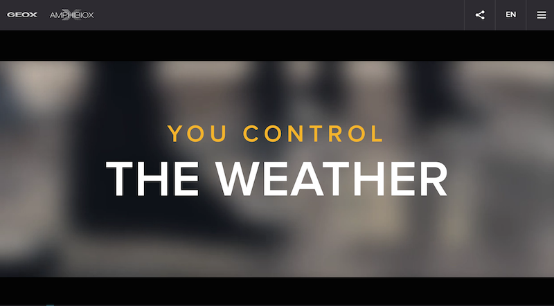 control the weather - geox