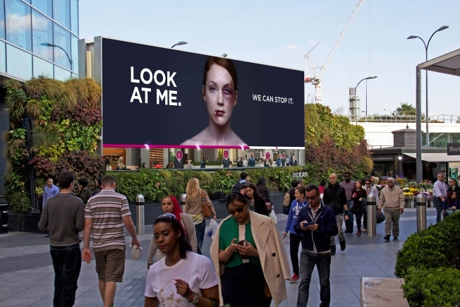 Women's Aid interactive billboard