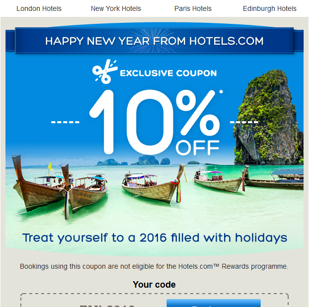 10% hotels.com happy new year